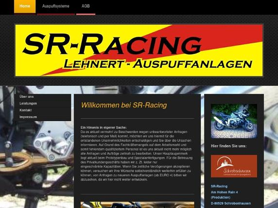 Screenshot von http://www.sr-racing.de